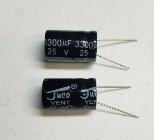 Bag of 50 3300uf 25V 3300MFD 25Volt Electrolytic Capacitor Radial Lead USA Ship