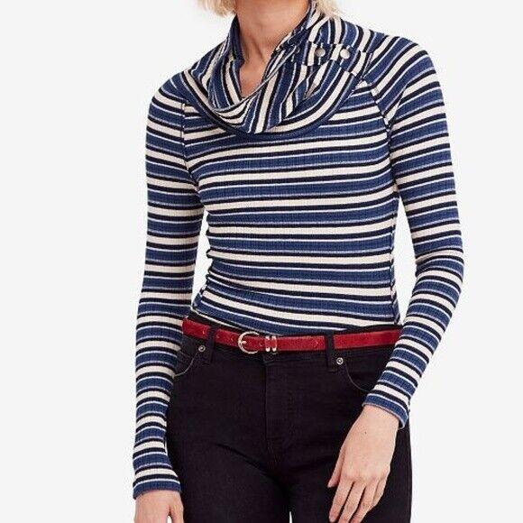 Free People Women Thermal Shirt Cape Cod bluee XS