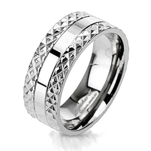 Titan anillo macizo Pyramid spikes púas plata Biker Gothic señores señora