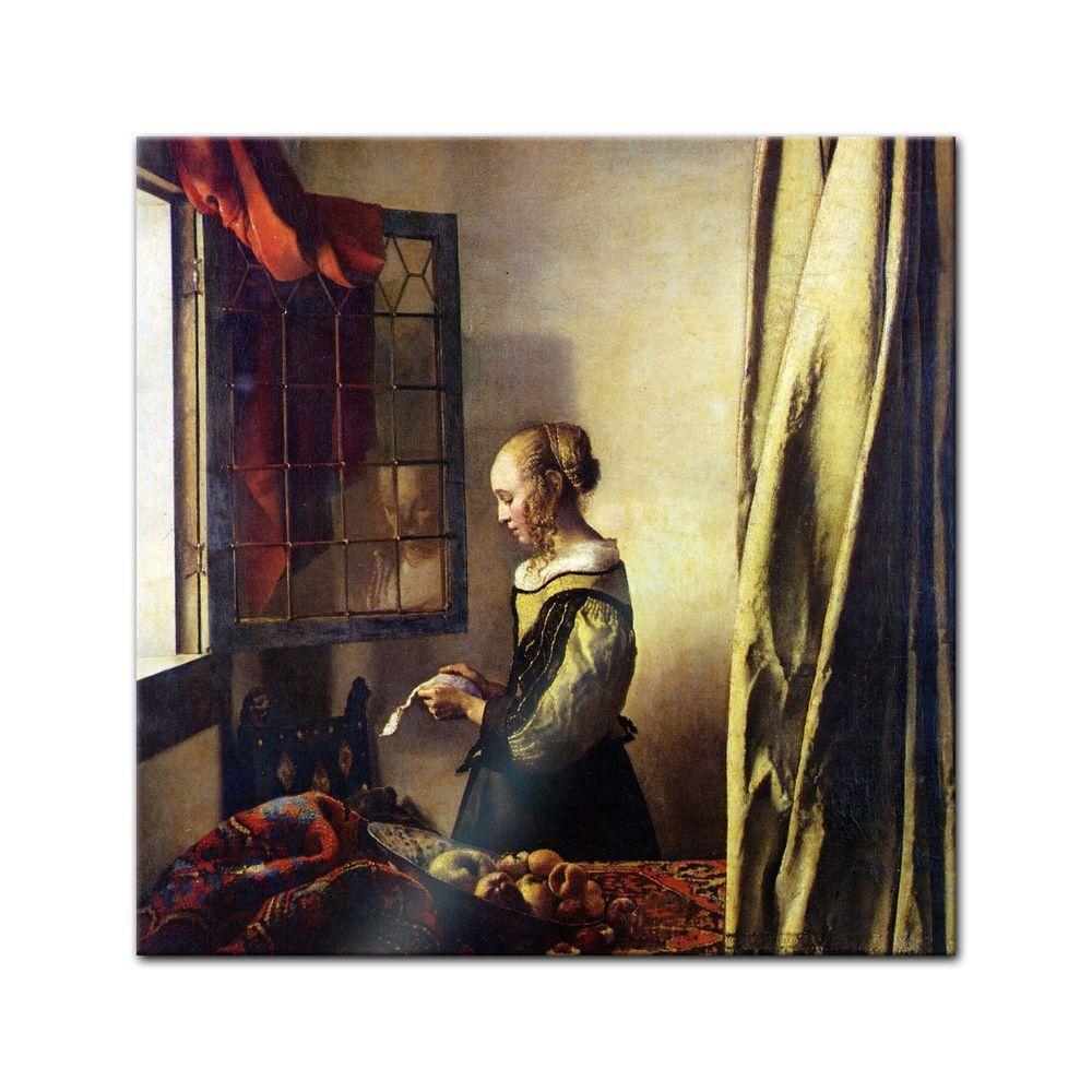 Générons Jan Vermeer-Vieux fenêtres Maître-Lettre LECTRICE LE fenêtres Vermeer-Vieux ouvertes 5e5869
