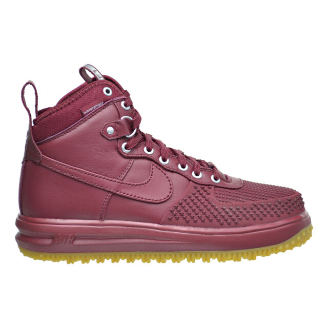 separation shoes 7d2b9 db6a6 Nike Lunar Force 1 Duckboot Men s Shoes Team Red Gum Light Brown 805899-600