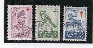 Finlandia-Valores-de-Cruz-Roja-y-Pro-Tuberculosos-ano-1952-57-DM-324