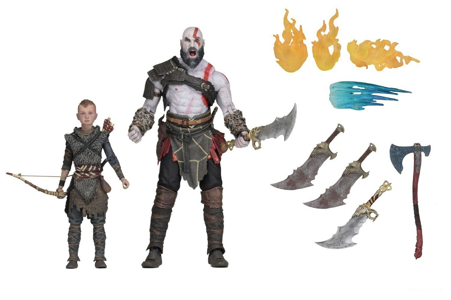 Gott des krieges (2018) - 7  - skala action figure set - ultimate kratos & atreus - neca