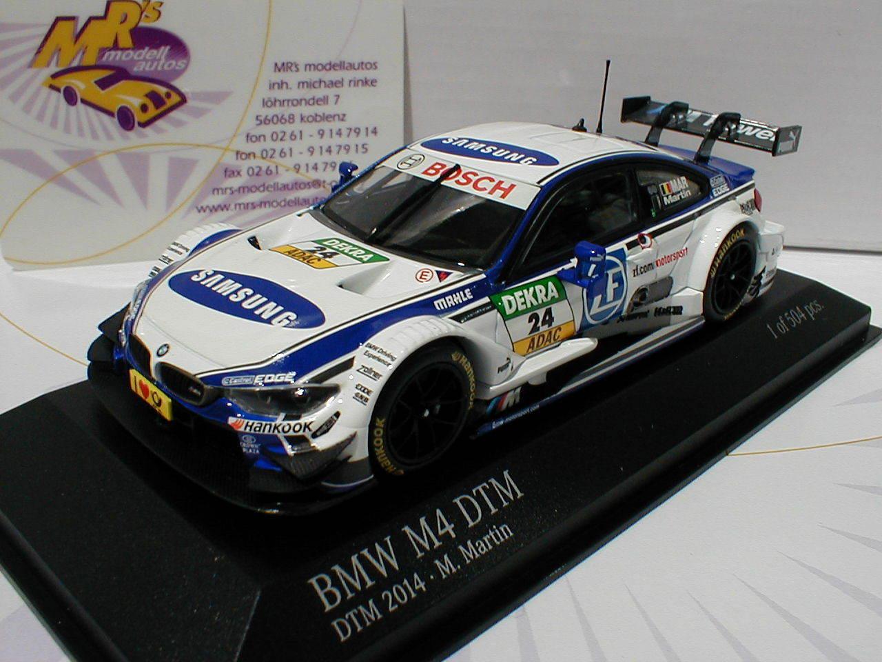 Minichamps 410142424   BMW m4 DTM  24 DTM 2014 Maxime Martin 1 43 Nouveau