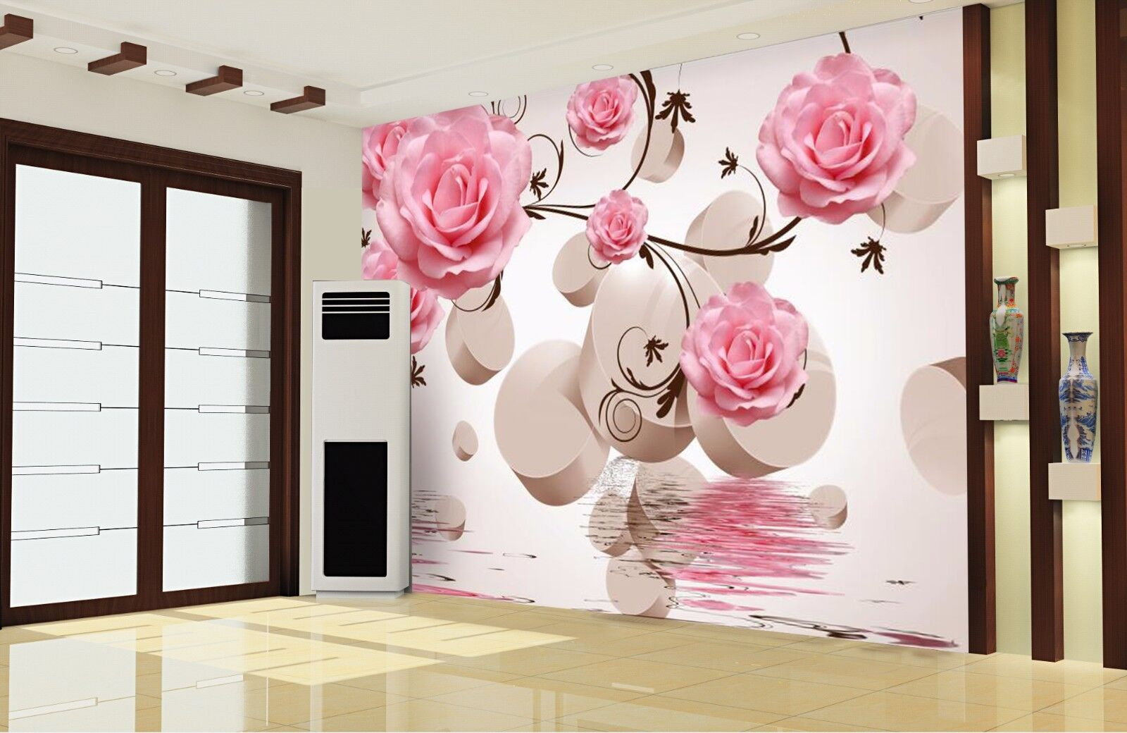 3D Water flower 3667 Wall Paper Wall Print Decal Wall Deco Indoor Wall Murals