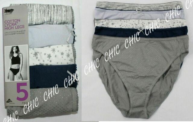 M /& S Ladies 5 Pack Cotton Lycra Full Briefs Knickers Underwear Size 22