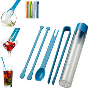 Set-Cocktail-Cheers-in-Plastica-Accessori-Barman-Tascabile-Pestello-Pinze-Feste