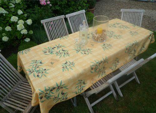 bügelfrei Tischdecke Provence 150x240 cm gelb Olivenmotiv aus Frankreich