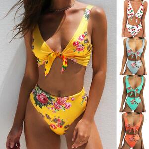 f56f3ea447b9f Women's Padded Push Up Bikini Sets High Waisted Swimsuit Bathing ...