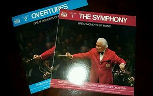 Boston-Pops-Great-Moments-Of-Music-Vol-1-2-Overtures-LP-Record-Album-33-Fiedler