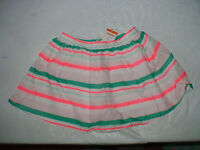 Gymboree Island Cruise Striped Pink Skirt Elastic Waist Summer