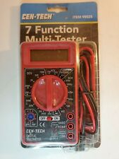 Cen Tech Digital 7 Function Multimetermultitester With 32 Leads 98025