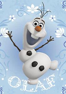 STICKER-AUTOCOLLANT-POSTER-A4-DISNEY-LA-REINE-DES-NEIGES-SNOW-QUEEN-OLAF