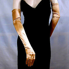 "Long Satin Opera Gloves Stretch 23"" Bridal Wedding Prom Formal Costume  - G163"