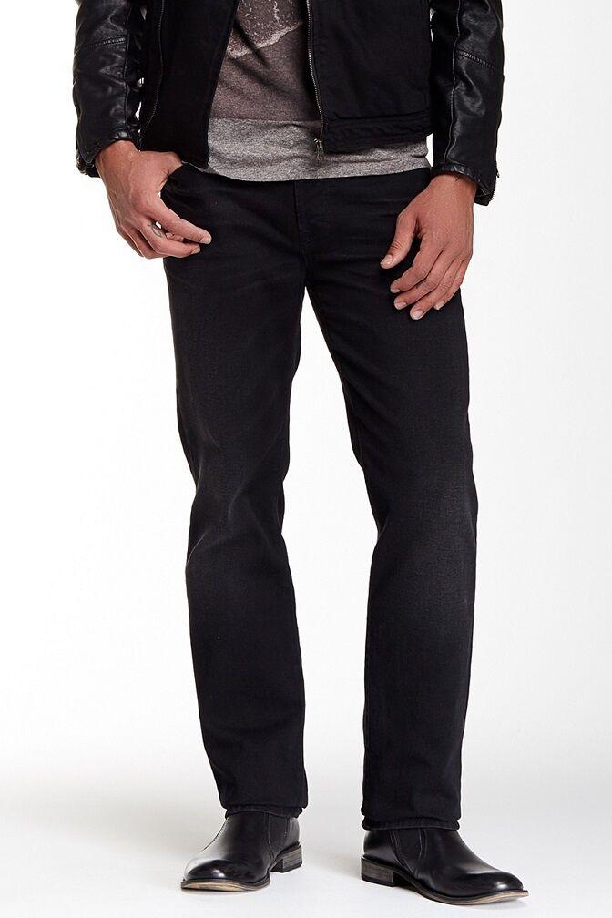 7 für Alle Mens Norm Gerades Bein Jeans in Dunkel Waschung Edge Neu 30