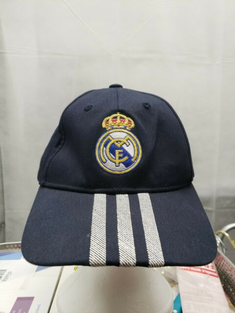 adidas RMCF Real Madrid Flat Cap Crystal White//Ray Purple New