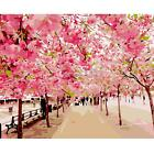 16''x20'' DIY Painting Acrylic Paint By Number Linen Canvas Kit Pretty Landscape