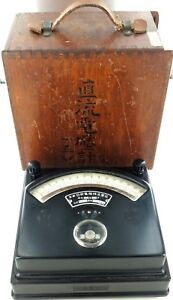1941-NISSHIN-PYROMETER-THERMOCOUPLE-INDICATOR-ORIGINAL-BOX-JAPANESE-TEXT
