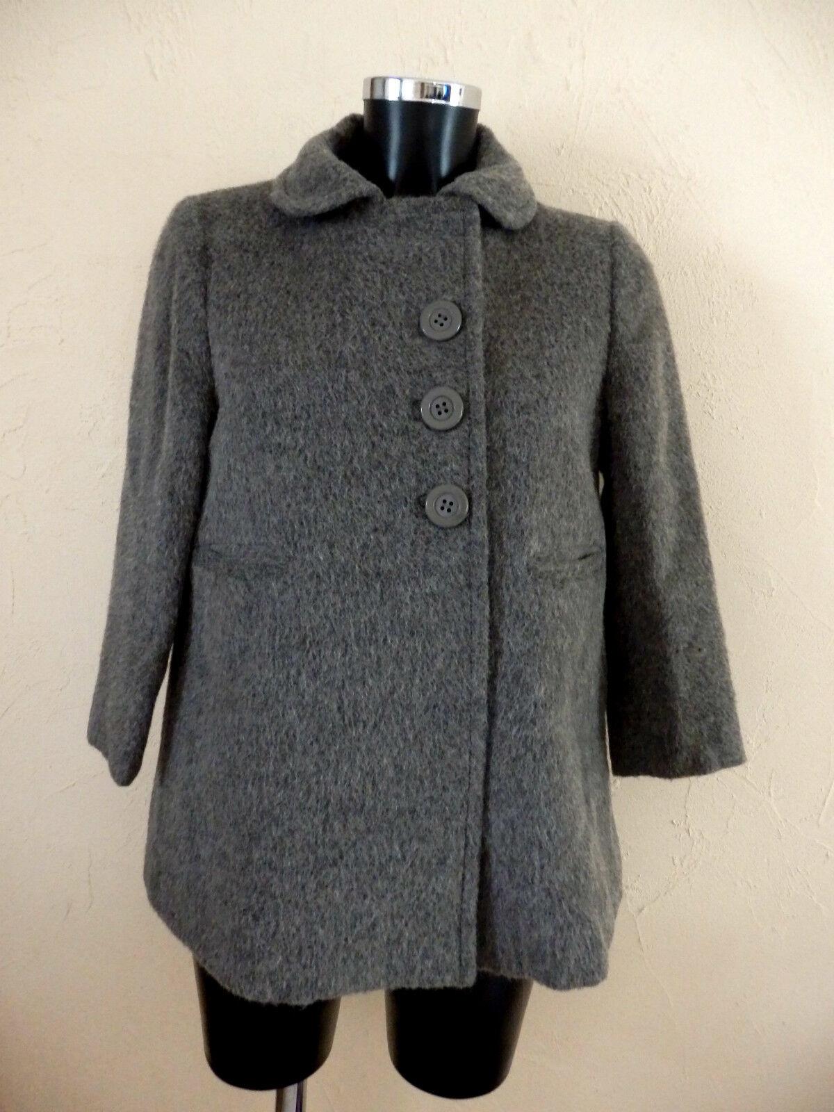 SEE BY CHLOE - MANTEAU - LAINE  ALPAGA  MOHAIR - size 36fr - grey