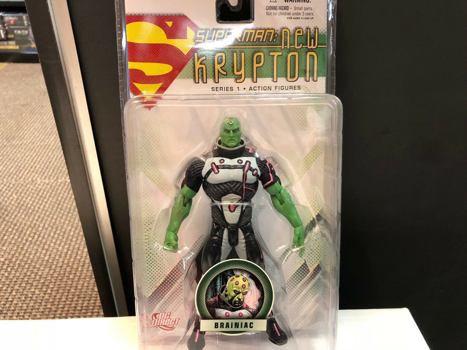 Superman  New Krypton Brainiac Brand New Sealed  DC Direct Free Shipping