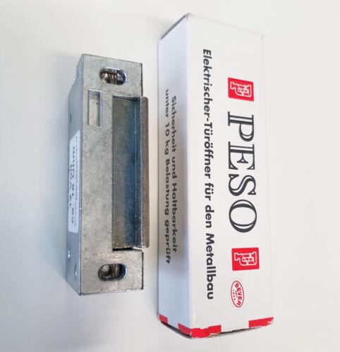 Elektrischer Türöffner PESO 500 o 12 V und großer Schraubabstand =  62 mm