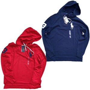 NWT-Polo-Ralph-Lauren-Mens-mesh-hoodie-shirt-BIG-PONY-S-M-L-XL-XXL-Long-Sleeve