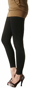 EXTRA-LONG-Leggings-Viscose-Tall-Stretch-BLACK-SIZE-20-22-24-26-28-XL-Plus-Curve