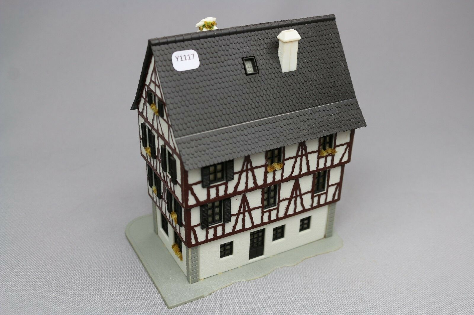 Y1117 Faller maquette Ho grande grande grande maison colombage porche alsacienne 88a341