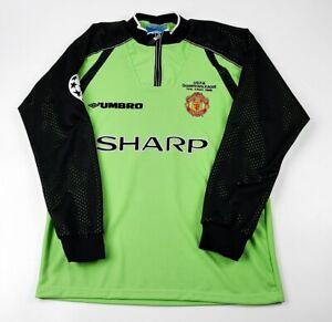 Manchester United Gardien shirt UCL finale 1999, SCHMEICHEL, S M L XL 2XL 3XL
