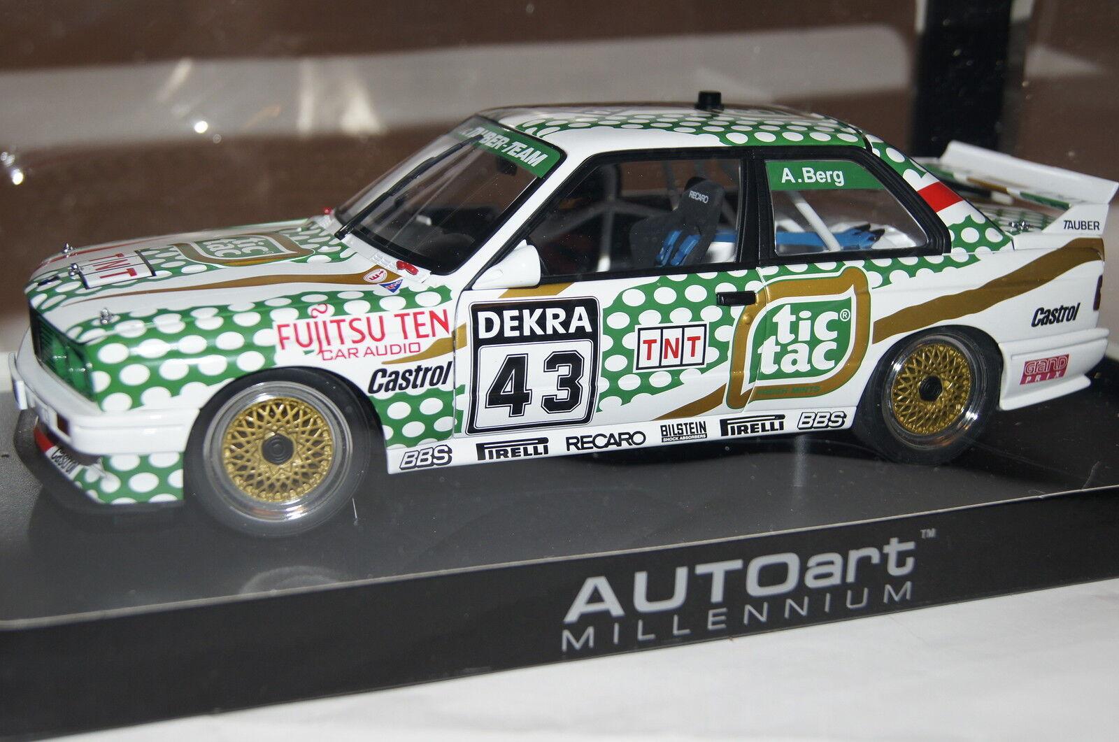 BMW m3 DTM 1991  tic tac  montagne  43 1 18 AUTOart NOUVEAU & OVP 89147