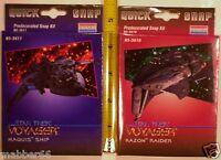 2 Rare Star Trek Voyager 1996 Mini Kazon Raider,maquis Spaceship,snap Models