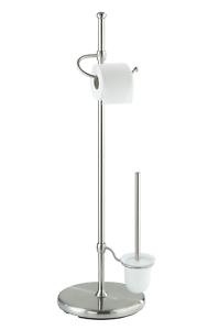 Wenko Adiamo 16831100 Rollo de papel higiénico y soporte para pinceles con Bracke ajustable en altura