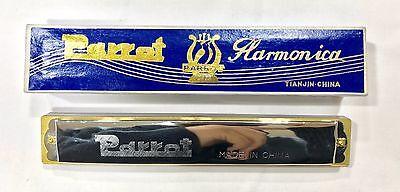 Silver Finish Parrot Harmonica 48 hole