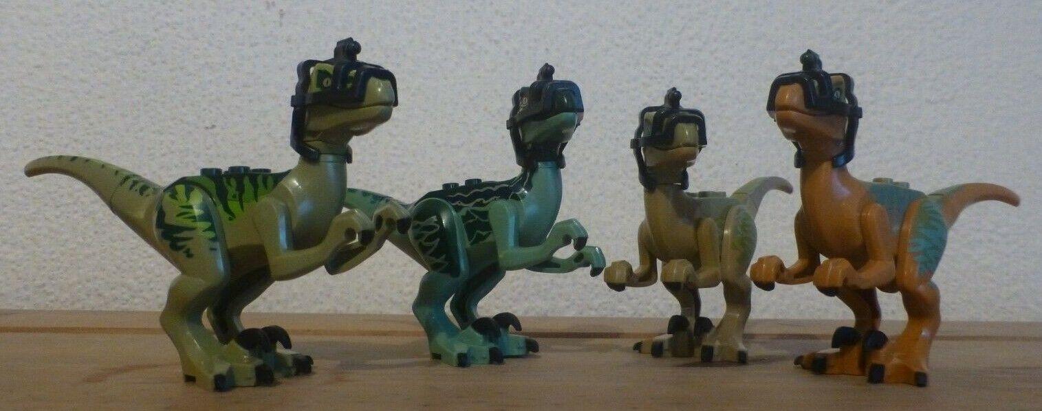 Parque Jurásico Dinosaurio mundo Raptor x4 Velociraptor Ataque paquete blu se ajusta Lego M