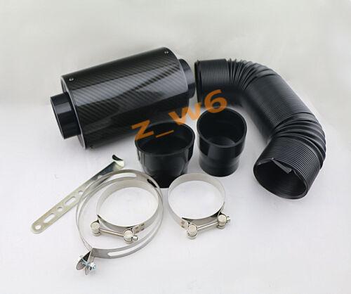 "Car Truck Carbon Fiber Air Intake Filter /& 3/"" Flexible Tube Ducting Pipe Hose"