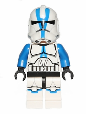 Genuine Lego Star Wars Minifigure 501st Clone Trooper 75002 75004