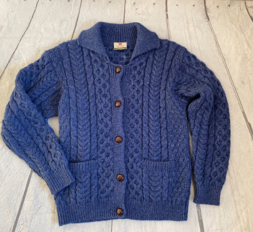 80s Carrig Donn Beige Cable Knit Sweater Medium