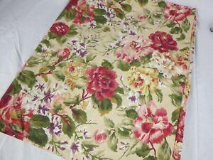 NEW Ralph Lauren Constance Post Road Floral Full Flat Sheet 100% Cotton CRISP!!