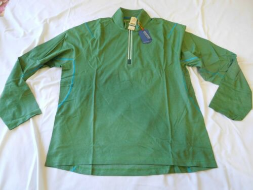 Tommy Bahama Men Shirt Long Sleeve Half Zip Pullover Green XL Extra Large New