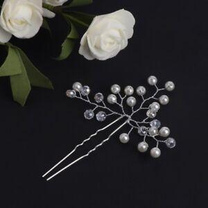 2aa90790a Wedding Bride Hairpins Faux Pearl Hair Clip Jewelry Headdress Bridal ...