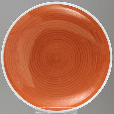 KPM Berlin: Teller / Schale mit Ringeldekor in Orange, Trude Petri Art Deco 1932