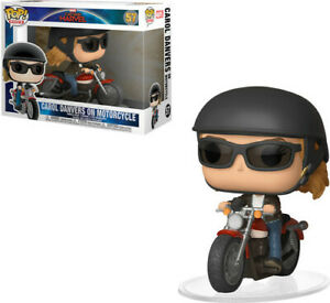 FUNKO-POP-RIDES-Captain-Marvel-Carol-Danvers-on-Motorcycle-New-Toys-Viny