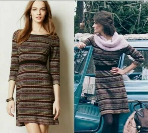 Anthropology Sparrow Clara SMALL Sweater Dress