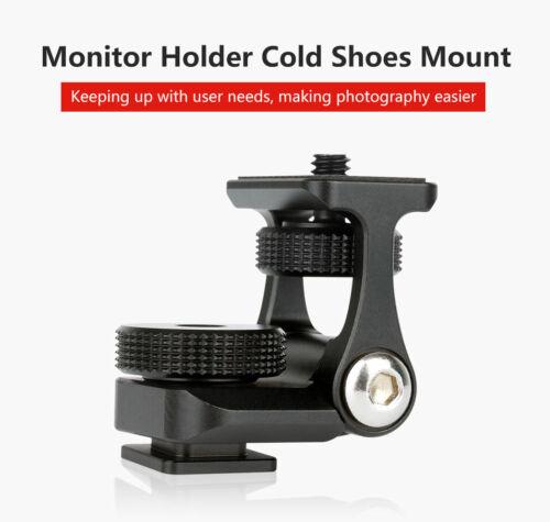 Monitor de soporte de montaje soporte doble U-40 Brazo Movible rotación Cold Shoe Mount