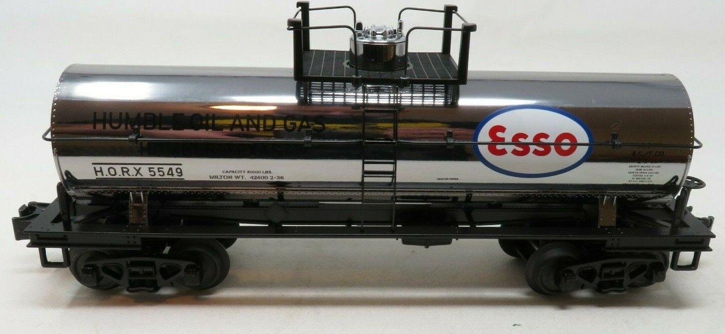 MTH RailKing Trains 30-73550 Exxon Chrome Plated Tank Car O Gauge