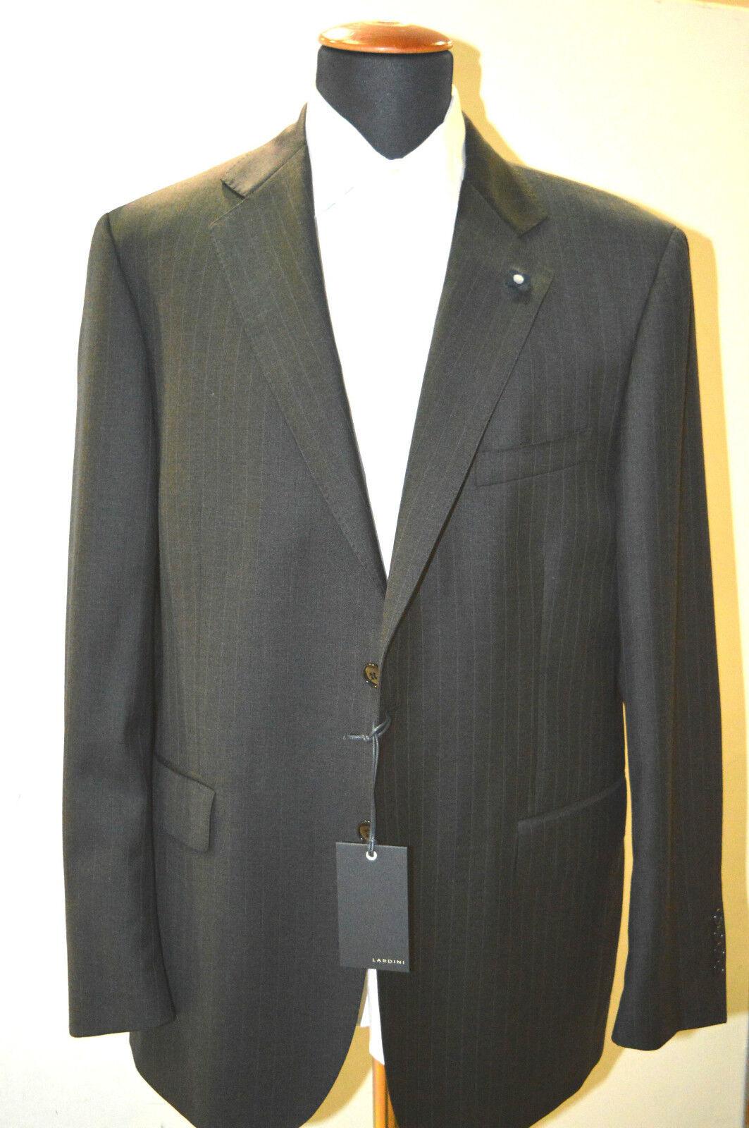NEW  840,00  LARDINI  grau  Suit  100%  Wool 42  Us 52  Eu Made in   2 BTN