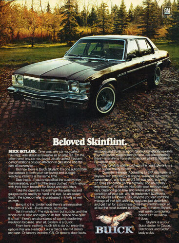 1977 Buick Skylark Skinflint Classic Vintage Advertisement Ad D47