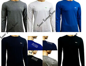 Hugo-Boss-men-039-s-crew-neck-Short-Sleeve-Long-sleeve-t-shirts-Best-Christmas-offer