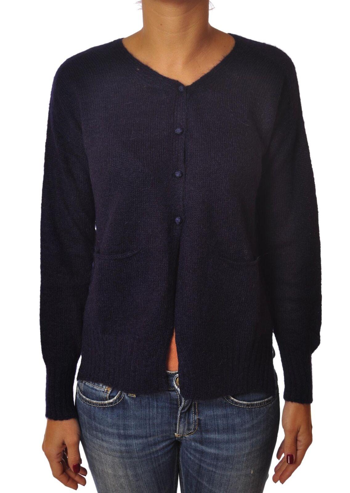 O.D.D. - Knitwear-Cardigan - Woman - Blau - 4273024B184212