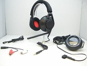 Plantronics-RIG-Black-Stereo-Gaming-Headset-BLACK-Mixer-USB-Amp-for-Xbox